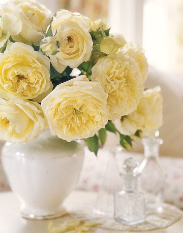 white rose floral arrangement
