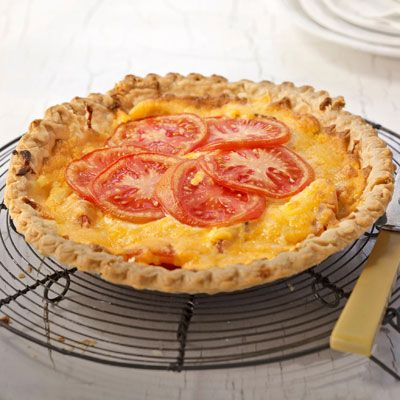 """Tandi's Tomato Pie a Free Recipe by Tandi Ross from """"Country Living"""" Magazine"""