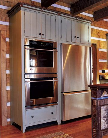 Double Ovens Next To Refrigerator