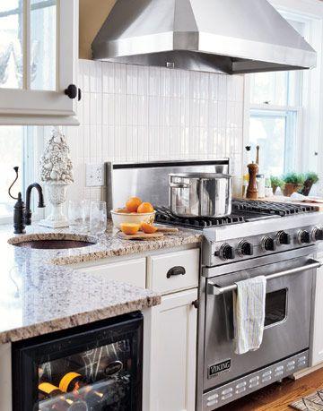 kitchen with prep sink