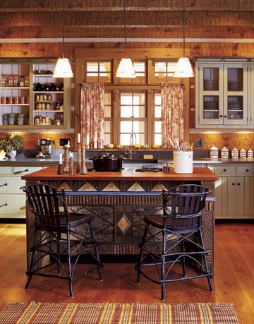 adirondack style kitchen