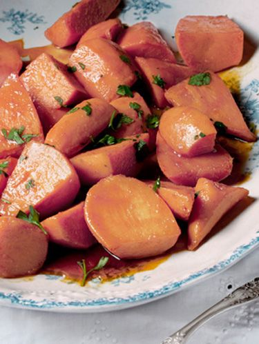 sweet potatoes with ancho maple glazed