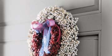 red and white berry wreath