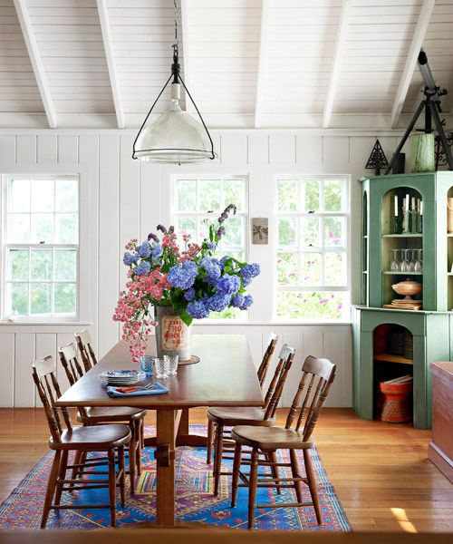 Blue Dining Rooms.  85 Best Dining Room Decorating Ideas Country Decor