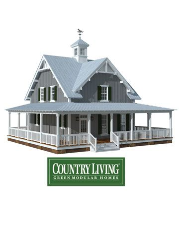 Attractive Country Living Green Modular Homes