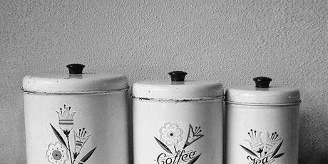 vintage metal kitchen canisters