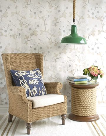rope furniture and decor