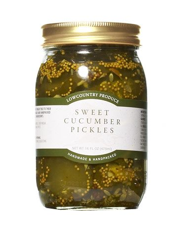 regional sweet cucumber pickles