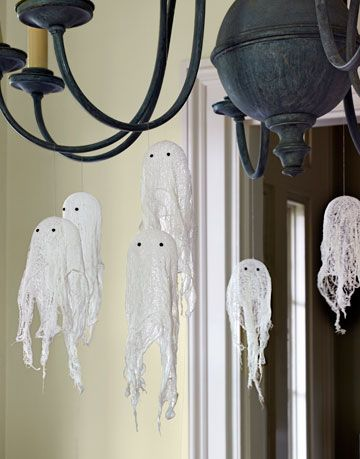 cheesecloth ghost craft project