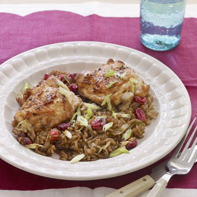 cranberry hoisin chicken and rice