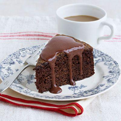 chocolate cake with chocolate orange sauce