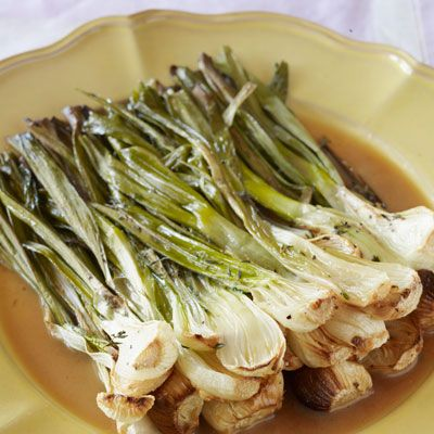 roasted spring onions