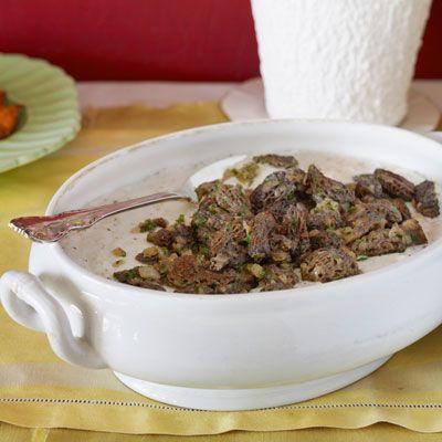 parmesan grits with morels