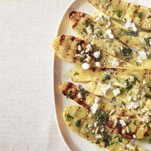 squash with ricotta salata