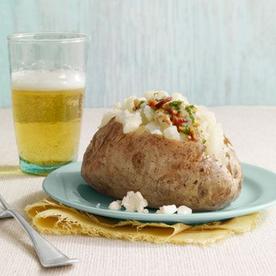 baked potatoes with bacon butter