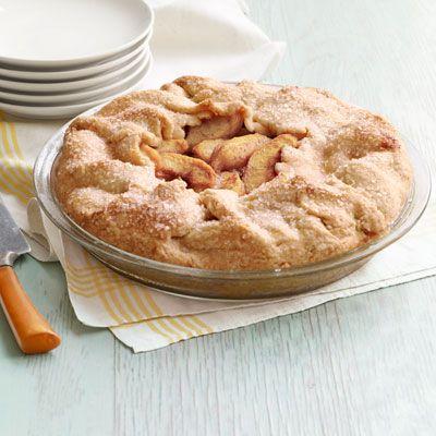 peach almond galette
