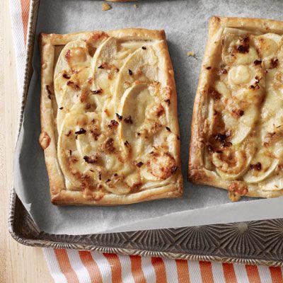 savory gruyere apple tarts
