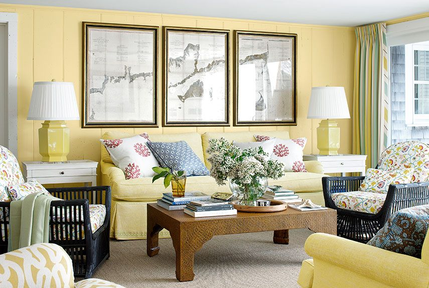 Yellow Decor Decorating With Yellow Extraordinary Yellow Living Room