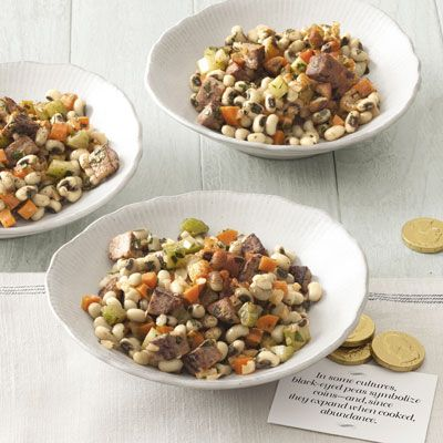 black eyed pea salad with spicy mustard dressing