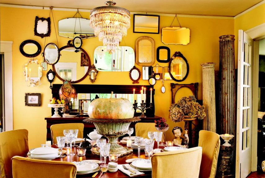 Yellow Decor Decorating With Yellow Classy Yellow Dining Room