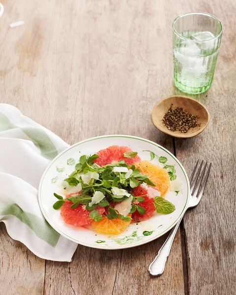 citrus salad with hazelnut dijon dressing