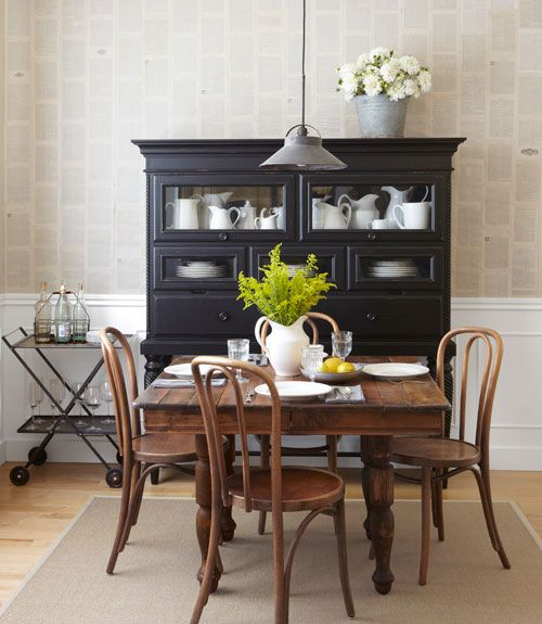 Early American Dining Room Hutch