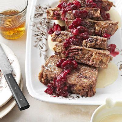 b smiths bourbon cranberry bread pudding