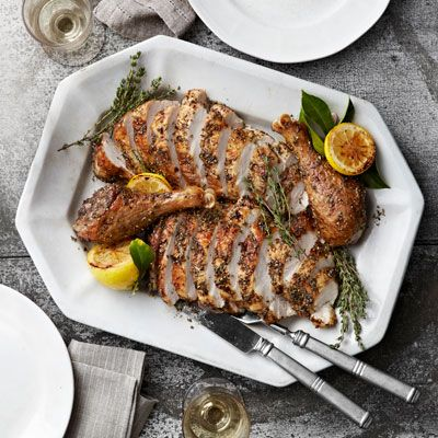 the perfect roast turkey with herbes de provence rub