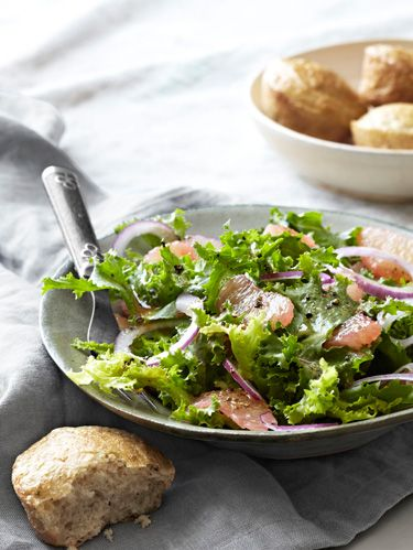ruby red grapefruit and chicory salad