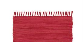 red woven rug