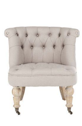safavieh little tufted fabric slipper chair