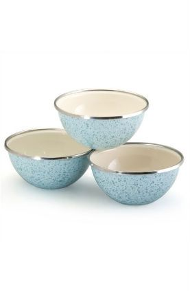 enamel on steel prep bowl set by paula deen