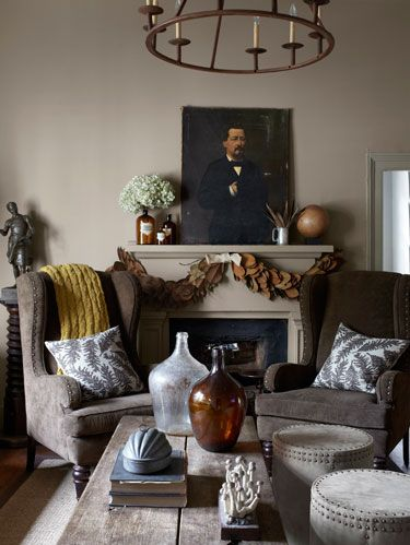 gray country living room