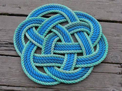 Alaska Rug Company Fishing Rope Doormat