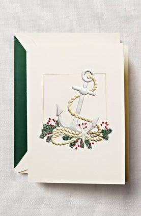 anchor holiday card