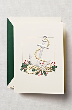 anchor holiday card
