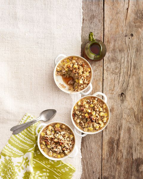 pineapple ginger and walnut oatmeal