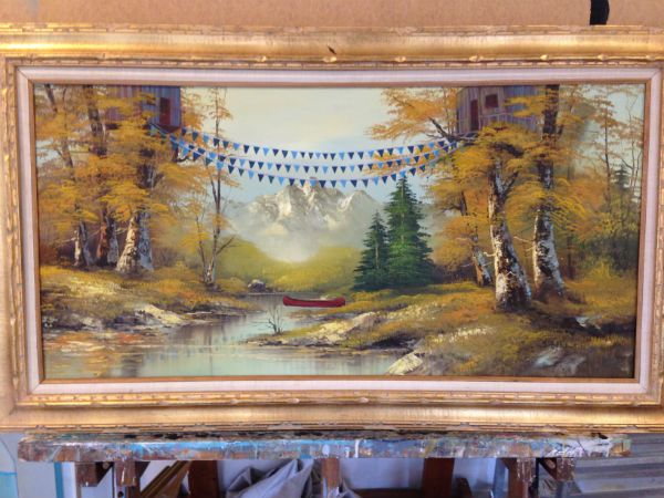 How to Make Over a $2 Thrift Store Painting