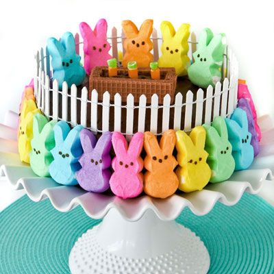 peeps bunny patch cake