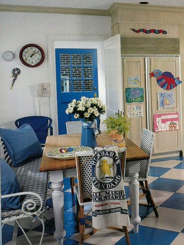 A Blue And White Country Kitchen From Country Livingu0027s March 1989 Issue