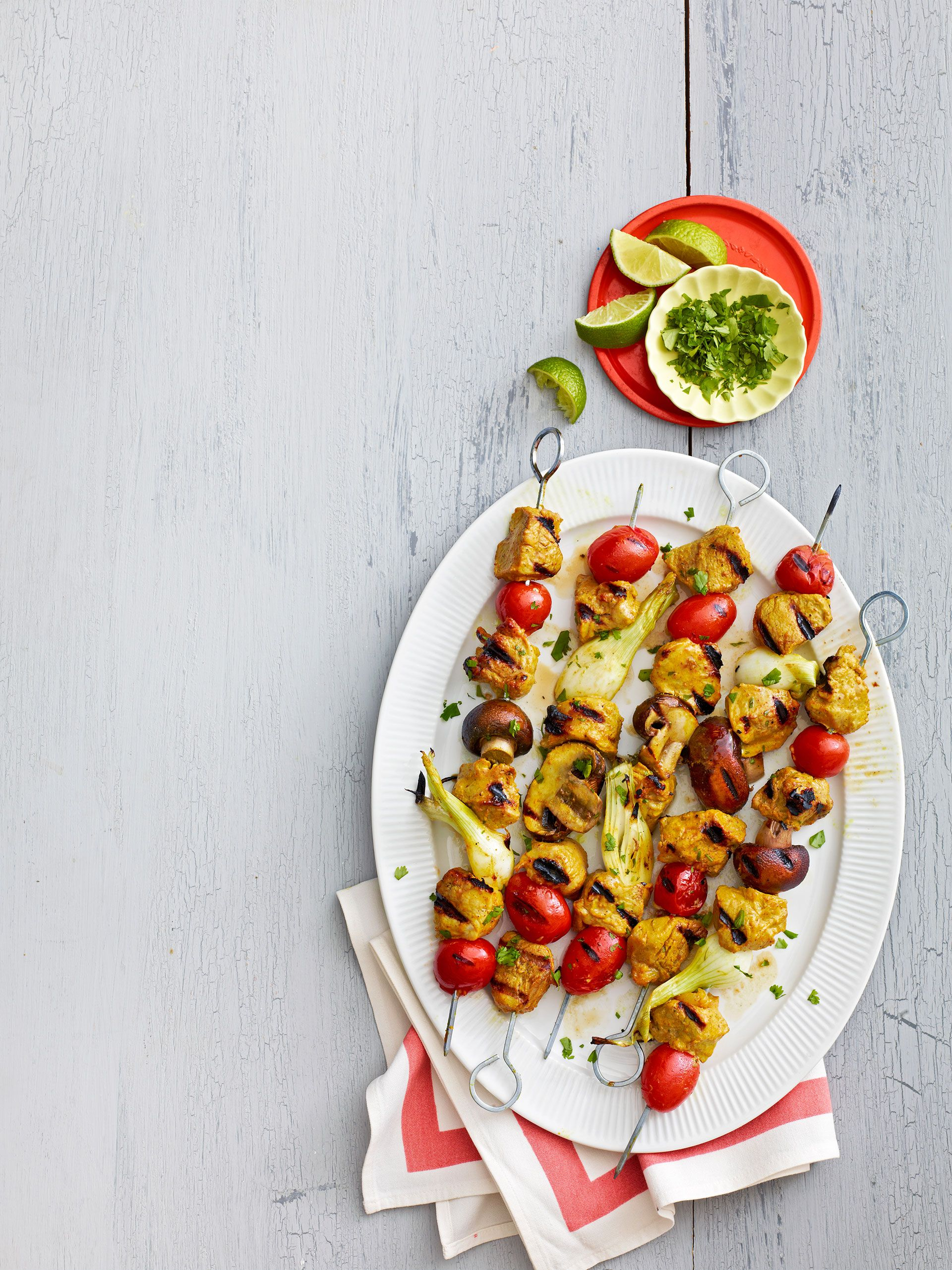 Curry-Lime Pork Kebabs