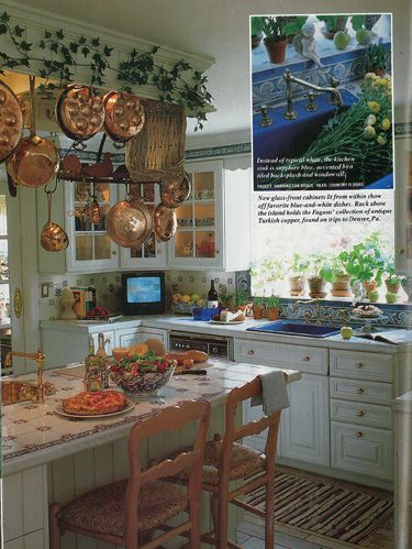 Vintage Country Living - European Country Kitchen