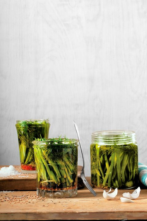 Green, Ingredient, Mason jar, Home accessories, Produce, Canning, Vegetable, Preserved food, Still life photography, Serveware,