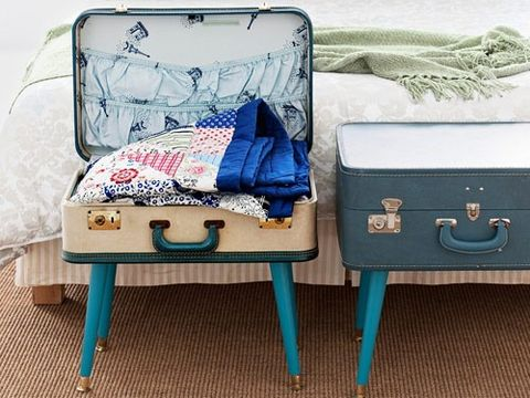 suitcase table craft