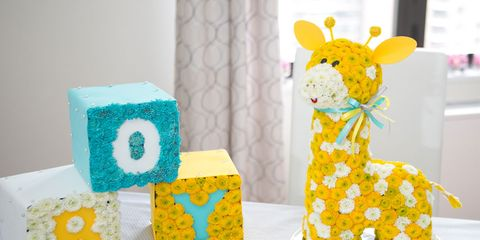 Yellow, Pattern, Teal, Toy, Turquoise, Creative arts, Aqua, Fawn, Baby toys, Craft,