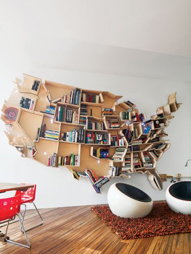Lovely Bookshelf. Courtesy Of Dwell