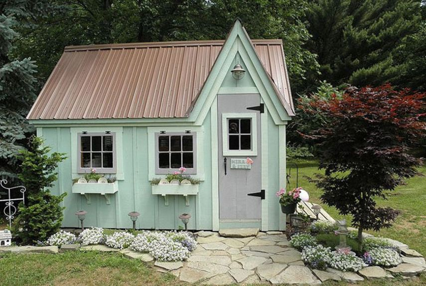 19 Whimsical Garden Shed Designs Storage Shed Plans Pictures