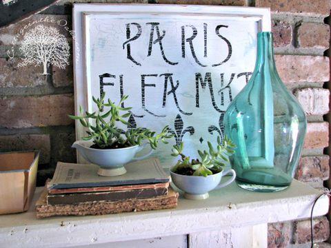 Flowerpot, Glass, Bottle, Teal, Serveware, Interior design, Glass bottle, Turquoise, Houseplant, Ceramic,