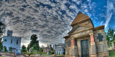 Cloud, Meteorological phenomenon, Historic site, Cobblestone, Landscaping, Tourist attraction, Walkway, Panorama, Monument, Mausoleum,