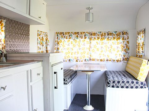 We Found A Vintage Steel Cabinet That Installed And Use As Our Pantry She Says New Fabric Covers All The Bench Bed Cushions